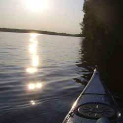 The western side of Harwood Island at Pushaw Lake was a picture of tranquility Wednesday evening while on the northern and eastern sides of the island the 10-knot breezes pushed up a little chop.