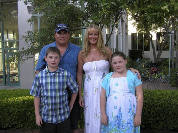 Steven and Amy Lake with children Coty, 13, and Monica, 12, in an undated photo.