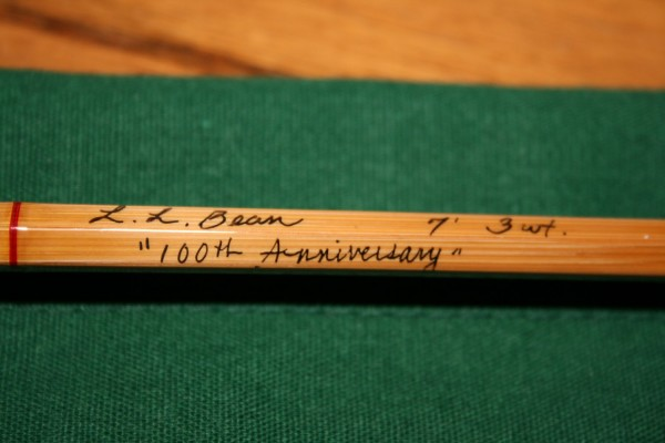 Steve Campbell of Brewer, owner of Thomas Rod Co., is hand-crafting 25 commemorative bamboo fly rods for L.L. Bean's 100th anniversary celebration in 2012. The rods will be available at the beginning of the year and will retail for $3,495 apiece.