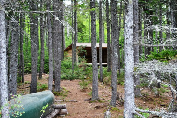 The Martin Ponds lean-to in Baxter State Park is an excellent backpacking destination for small families or beginning backpackers.