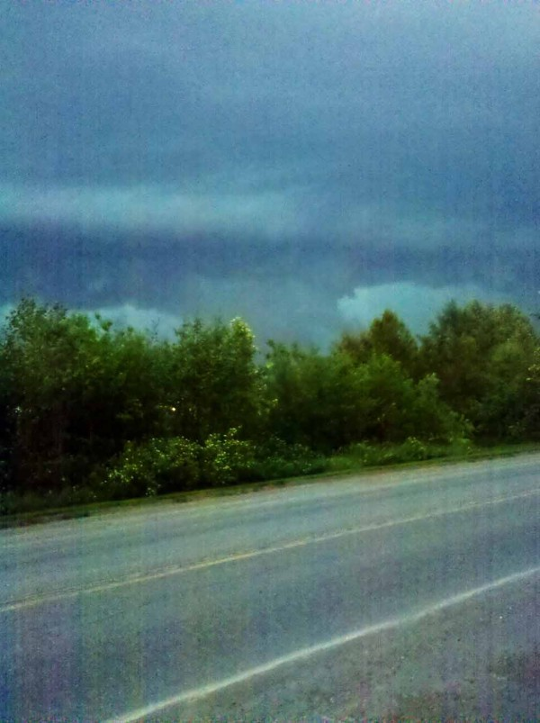 Aroostook tornado as seen from Bridgewater, Wednesday, June 8, 2011.