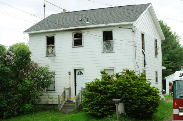A house on Stillwater Ave. in Bangor as seen on Thursday, June 2, 2011, after a fire that occurred overnight.