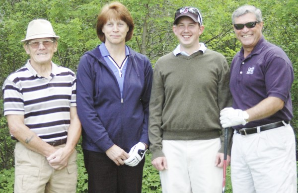 On the Camden National Bank Team, which finished second after a tie-breaker was used, were (from left) Frank Field, Jean Brown, Paul Doody and Ansel Orne.