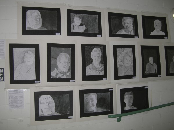 "The walls of the Bucksport Middle School are lined with student portraits of area senior citizens created as part of a yearlong interdisciplinary school project, ""Generational Snapshots of the Past."" The portraits, along with musical performances and other academic works created during the year will be presented Wednesday night for the seniors involved and other members of the RSU 24 communities."