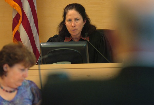 Superior Court Justice Michaela Murphy addresses the Penobscot Judicial Center courtroom during the Thursday, June 30, 2011, hearing requesting a new trial for Zachary Carr for the 2010 death of John &quotBobby&quot Surles. Convicted in March for murder, Carr's defense was seeking a new trial, alleging errors were made in regard to evidence and testimony. Murphy denied the request.