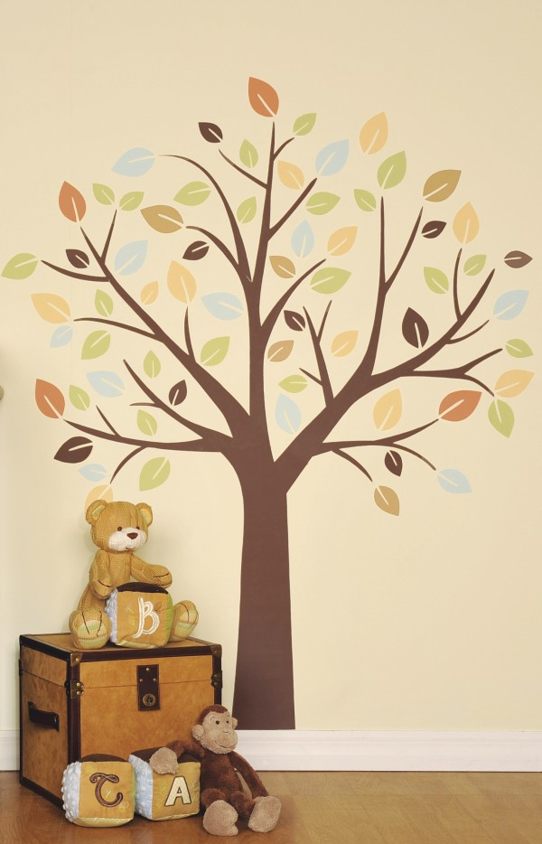 This file product image released by ToysRus shows the Little Boutique Wall Decal of a tree. Inexpensive and easy to install, wall decals are popping up on walls in every room of the house.