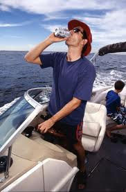 Wardens will be watching for boaters who drink and operate their boats as demonstrated in this photo illustration from http://duicharges.blogspot.com/2009/06/boating-under-influence-bui.html.