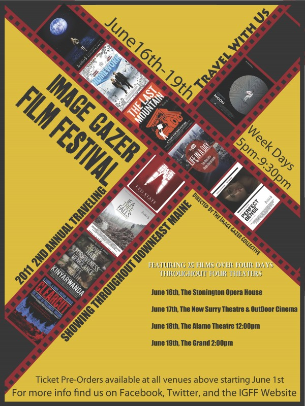 A poster for the Image Gazer Film Festival, which kicks off Thursday, June 16 in Stonington. The festival will also visit Blue Hill, Bucksport and Ellsworth.