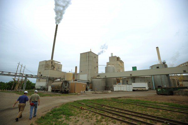 The back lot of Old Town Fuel and Fiber, which houses the steam plant and recovery boilers is seen on Friday, June 24, 2011.