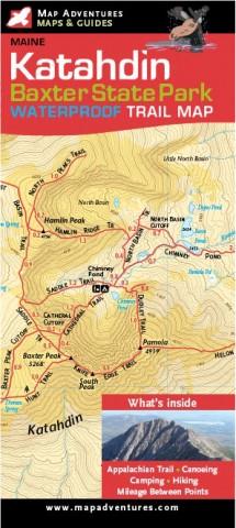 New Katahdin, Baxter State Park map by Map Adventures ... on lake george map, charleston map, baxter mn street map, floral park queens map, monhegan island map, mount katahdin map, androscoggin river map, kiwanis park map, patapsco hilton area map, baxter st park map, united states map, martha's vineyard map,