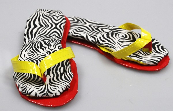 Flip flops made out of duct tape are a fun project, and perfect for anyone who attends the Duct Tape Festival in Avon Lake, Ohio.