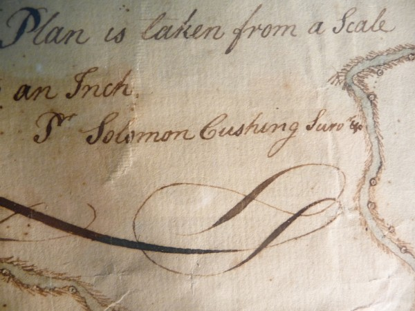 The mapmaker's signature on the priceless artifact.