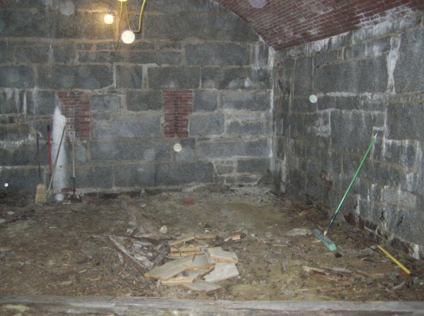 The powder magazine at the Fort Knox Historic Site is undergoing a renovation, the first activity in the area since it was closed to the public in the 1960s. Crews began work Monday removing the rotted wooden floors and walls, which will be replaced as part of the project.
