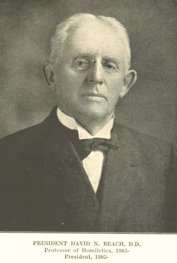 "David Beach, president of Bangor Theological Seminary, saw ""a silver lining"" in the fire disaster of 1911."
