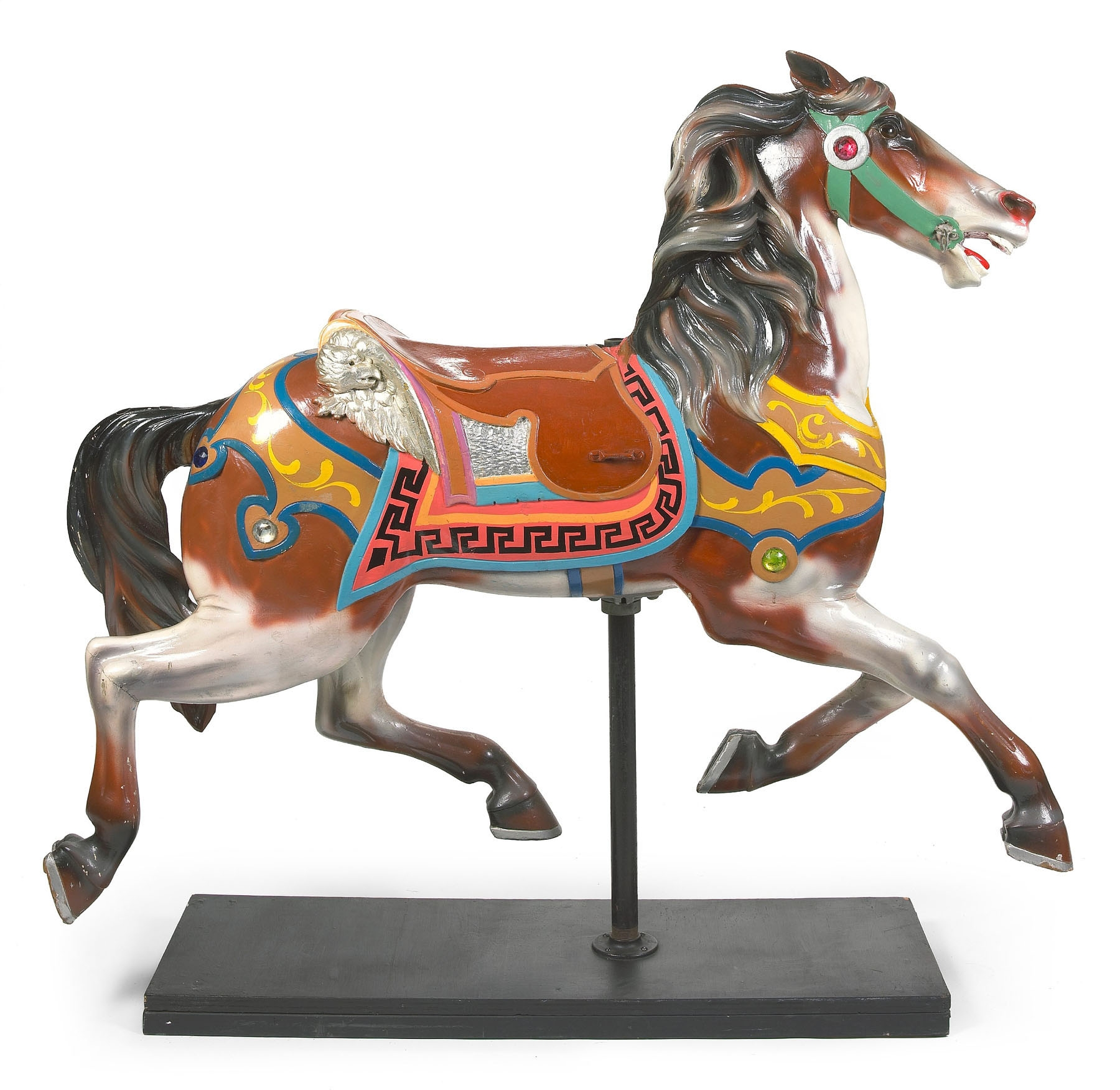 Made around 1900 by a celebrated carver, the American painted carousel horse had a pre-auction estimate of $8,000-$12,000 this winter at Bonhams and Butterfields New York.