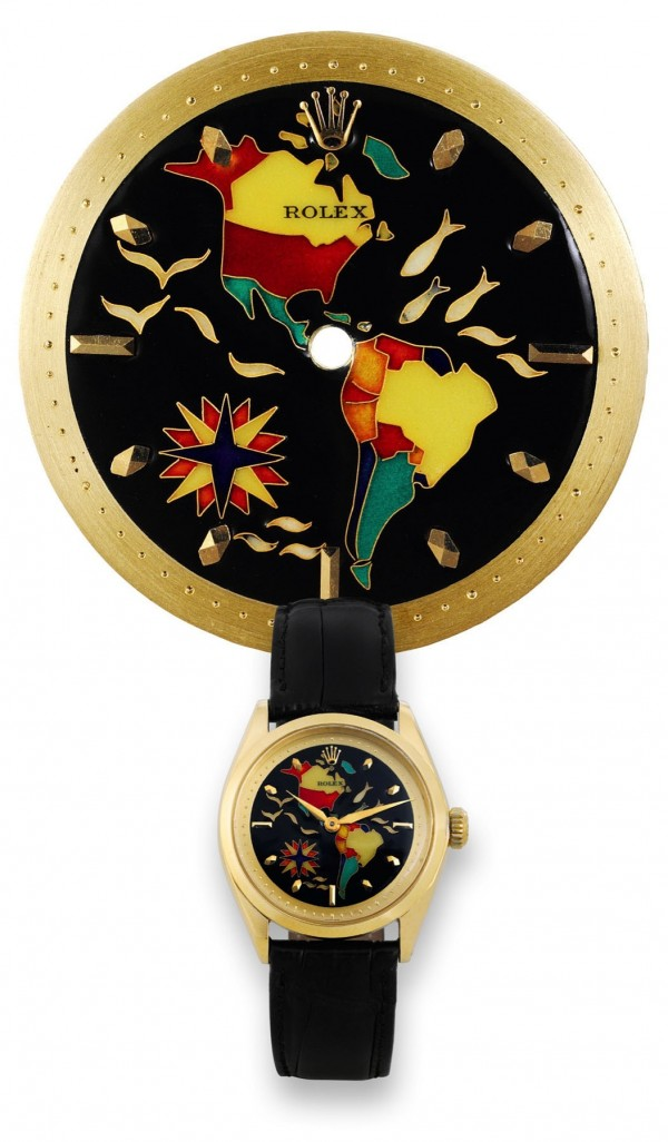 "The unusual enameled Rolex wristwatch called ""Two Americas"" sold for $788,048 this spring in an Antiquorum sale of Important and Modern Timepieces in Geneva."