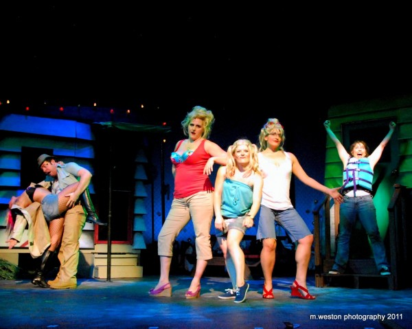 Cast members perform in the Penobscot Community Theatre's &quotThe Great American Trailer Park Musical.&quot