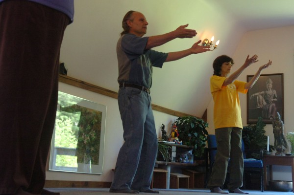 Paul Weiss, the founding director of the Whole Health Center in Bar Harbor lead a qi gong class on Friday, June 17, 2011. The holistic center, which offers a variety of services for the body, mind, and spirit, is celebrating its 30th anniversary.