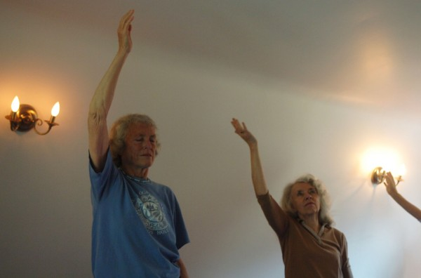 Participants perform gentle movements in a qi gong class at the Whole Health Center in Bar Harbor on Friday, June 17, 2011. Qi Gong is Chinese science which seeks to cultivate and balance a person's energy.