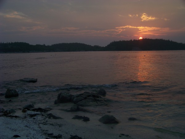 Sunset over Stonington