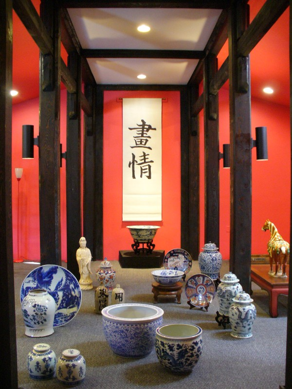 The Asia Room at Penobscot Books & Antiques in Searsport features porcelain from Japan.