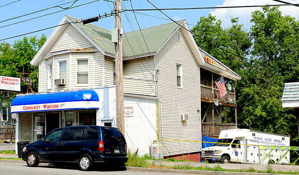 Police investigate the death of Danita Brown at 417 Main Street in Lewiston.  They arrested and charged Bob Ryder, 20, formerly of Litchfield, as a suspect in the case.