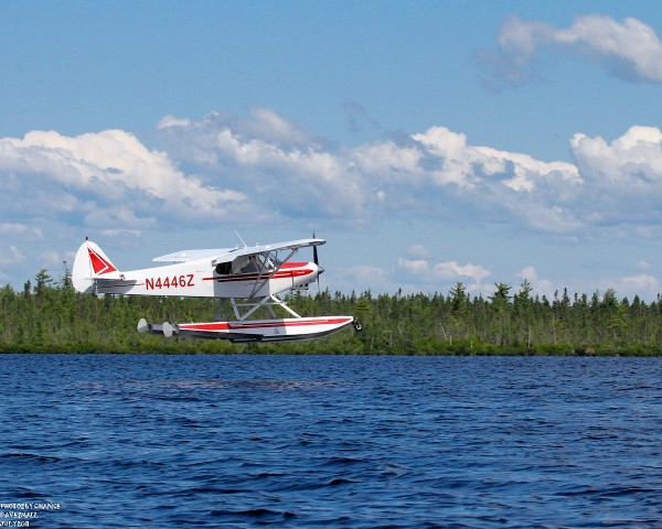 Float plane practicing touch and go
