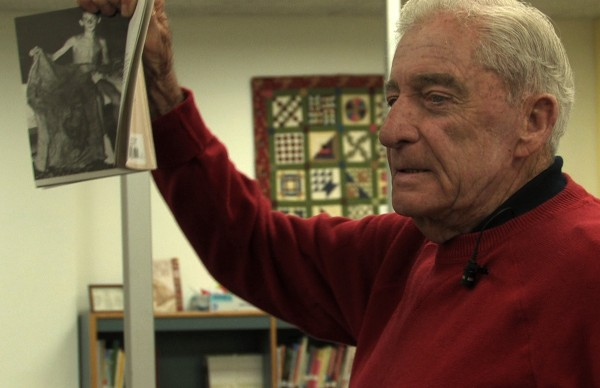 "Donn Fendler in the documentary ""Finding Donn Fendler: Lost on a Mountain in Maine 72 Years Later,"" which premiered at the Maine International Film Festival in Waterville on Saturday, July 16."