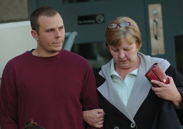 Garrett Cheney (left), 22, of South Berwick leaves the Penobscot County Jail on Friday afternoon accompanied by an unidentified woman after making bail on charges related to the Jan. 30, 2010 hit-and-run death of Jordyn Bakley, 20, of Camden on Middle Street in Orono. Jury selection in Cheney's trial is set to begin Monday.