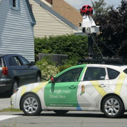 Google Street View car taking snapshots of Maine