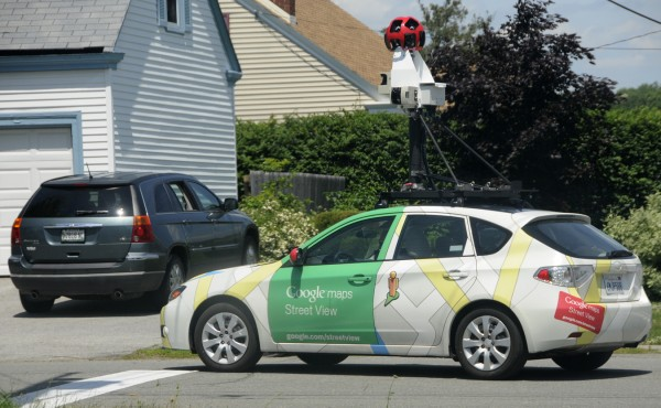 A Google Street View vehicle turns onto Harthorn Avenue from Sixth Street as it takes 360 degree street images of Bangor early Tuesday afternoon July 5, 2011.