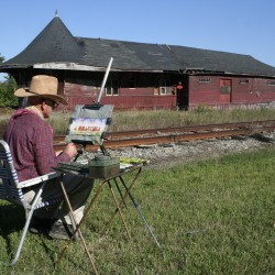 Former railroad workers share history at Greenville Junction Depot event