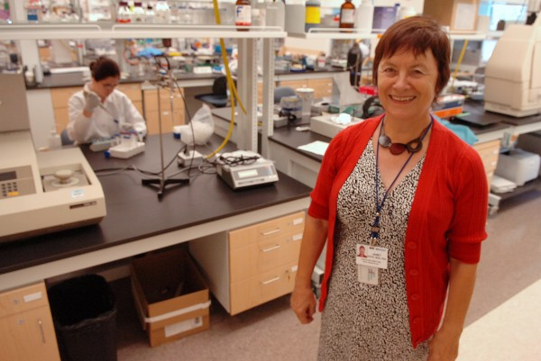 Janet Hock, director of the Maine Institute for Human Genetics and Health, is seen July 20, 2009 at the MIHGH's Bangor laboratory. MIHGH will discontinue the centerpiece of its biomedical research program in September, according to an official of Eastern Maine Healthcare Systems.