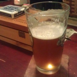 A glass of The Hopeful Hopster's citrus summer ale — his greatest brewing success, so far.
