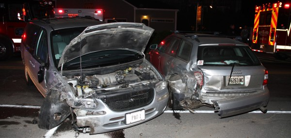 Police say a man was high when he crashed into a parked car in Rockland.
