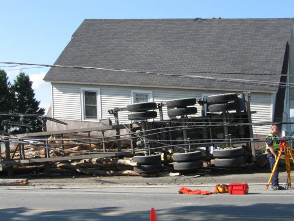 A 5-year-old boy was killed early Tuesday, July 19, 2011, when a Canadian logging truck crashed into his home on Main Street in Jackman, according to police.