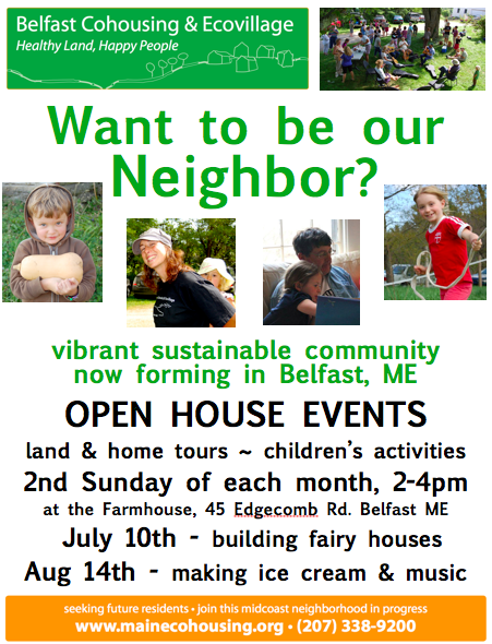 Open House – Belfast Cohousing & Ecovillage — User Submitted