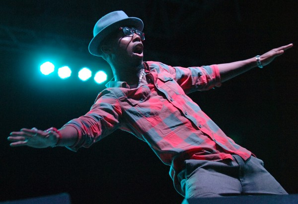 Hip-hop artist B.o.B performs at KahBang in August 2010.