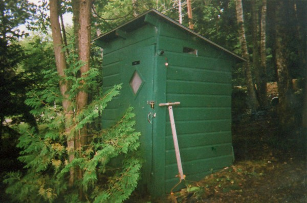 I believe my outhouse should merit consideration because: It was built in 1947. It's a two-holer. No. One for the little guys, No. Two for the big-uns.
