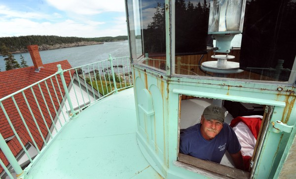 Terry Rowden of Cutler was stationed at the Little River Lighthouse in the late 1960s when he served in the U.S. Coast Guard. When the restoration of the Little River Island structure started he got involved with the lighthouse again and is now one of the regular volunteers at the site.