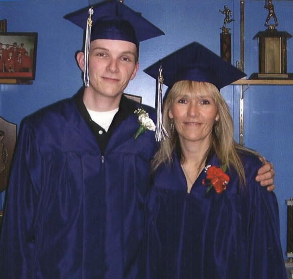 Frank Koch and his mother, Lisa Chouteau, both of Mapleton, were among 27 students who received their high school equivalency certificates through SAD 1's adult education program this year.
