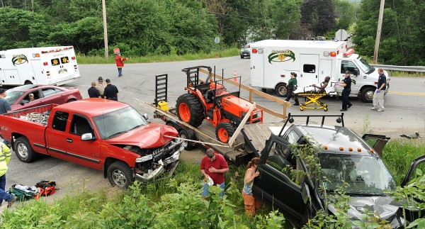 Three vehicles were involved in an accident at the intersection of Routes 9 and 69 in Newburgh Friday afternoon, July 1, 2011.