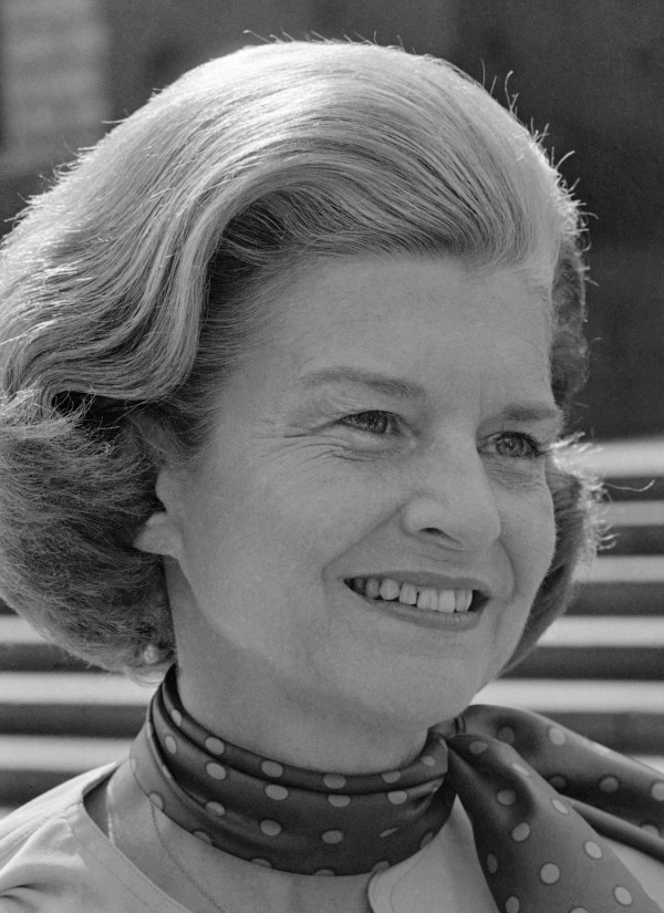 "First lady Betty Ford as she appeared on ""60 Minutes"" on Aug. 11, 1975. Ford, the former first lady whose triumph over drug and alcohol addiction became a beacon of hope for addicts and the inspiration for her Betty Ford Center, has died, a family friend said Friday, July 8, 2011. She was 93."