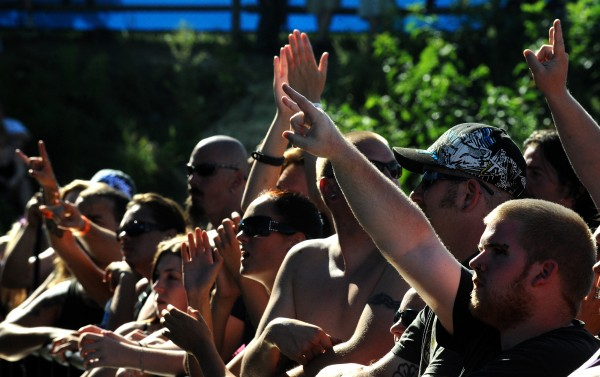 Concertgoers at Oxxfest on the Bangor Waterfront Sunday afternoon.