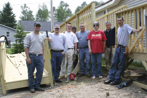 A number of volunteers, including several students at Northern Maine Community College in Presque Isle and Loring Job Corps in Limestone, teamed up to make a Westfield family''s wish come true, building a handicapped ramp so a resident  can enter and leave his home with less difficulty.