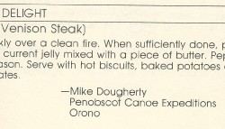 Guide's Delight, Broiled Venison Steak