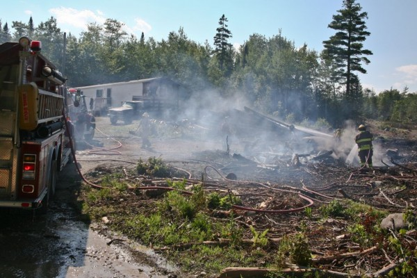 Crews responded to a fire on Page Road in Glenburn Friday.