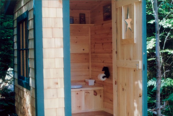 Steve Patten of Springfield had some downtime while building his camp in Prentis. Not wanting to waste it, he set to building this outhouse he calls his masterpiece.