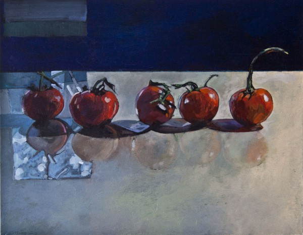 """Tomatoes"" oil painting by Kris Engman"