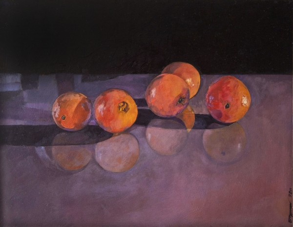 """Oranges"" oil painting by Kris Engman"